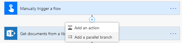 Add parallel branch
